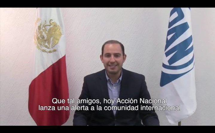 Lanza el Partido Acción Nacional una Alerta Internacional por Riesgo a Democracia en México